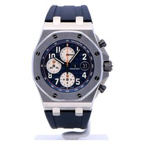 Audemars Piguet Chronograaf 42mm Automatisch 2014 tweedehands Royal Oak Offshore Chronograph Blauw