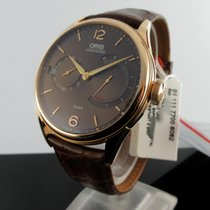 Oris Rose gold Manual winding Brown Arabic numerals 43mm new Artelier Calibre 111