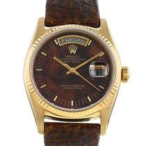 Rolex Day-Date 36 Or jaune 36mm Brun Sans chiffres France, Paris