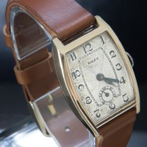 Rolex Ruzicasto zlato Rucno navijanje Srebro Arapski brojevi 25mm rabljen
