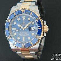 롤렉스 서브마리너 데이트 금/스틸 40mm 파란색