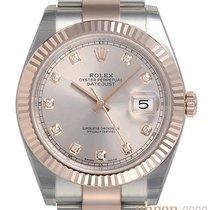 Rolex Datejust II Gold/Steel 41mm Pink No numerals