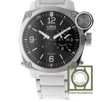 Oris BC4 Steel 42.7mm Black Arabic numerals