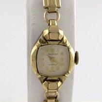 """Elmont Ladies 10k Rose Gp Steel Vintage  Manual Wind Watch 6""""..."""
