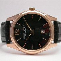 Hamilton Jazzmaster H386450 Slimline Automatic Mens Watch Pink...