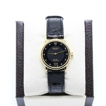 Rolex Cellini pre-owned 25mm Black Date Leather