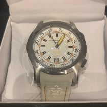 Cuervo y Sobrinos pre-owned Automatic 45mm White Sapphire Glass Over 120 ATM