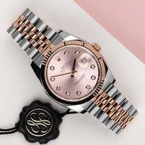 Rolex Datejust Zlato/Zeljezo 36mm Ružičasto