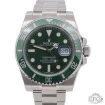 Rolex Submariner Date Stål 40mm Grøn