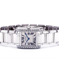 Cartier Tank Française pre-owned 25mm White White gold
