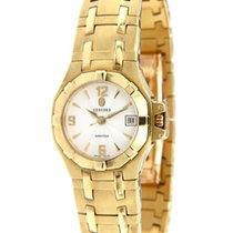 Concord Yellow gold Quartz White 25mm pre-owned Saratoga