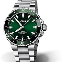 Oris Aquis Date Steel 43.5mm Green No numerals
