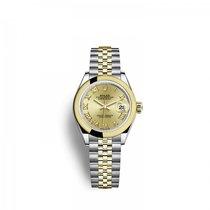 Rolex nuevo Automático 28mm Acero y oro Cristal de zafiro