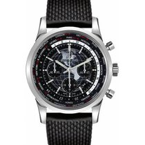 Breitling AB0510U4/BE84/256S Steel 2019 Transocean Chronograph Unitime 46mm new