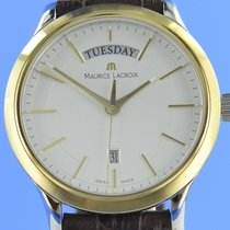 Maurice Lacroix Les Classiques Date Gold/Stahl 38mm Silber