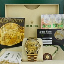 Rolex Champagne Arabic numerals 36mm pre-owned Day-Date 36