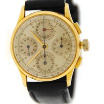 Universal Genève Yellow gold Manual winding 34.5mm pre-owned Compax