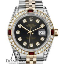 Rolex Lady-Datejust Or/Acier 26mm Brun
