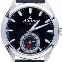 Alpina neu Quarz Leuchtzeiger Leuchtindizes 44mm Stahl Saphirglas