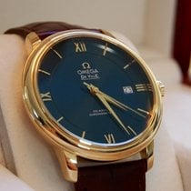 Omega DE VILLE PRESTIGE Co-Axial Gold Case,Blue Dial,Leather...