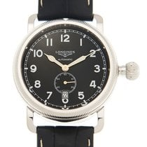 Longines Heritage Stainless Steel Black Automatic L2.777.4.53.0
