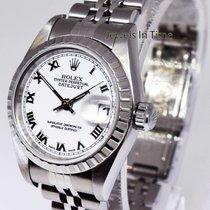 Rolex Ladies Datejust Steel Jubilee Bracelet White Roman Dial...