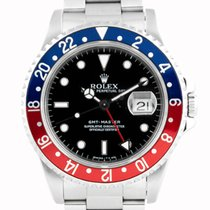 """Rolex GMT-Master """"Pepsi"""" Stainless Steel Black Dial - 16700"""