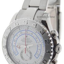 Rolex Yachtmaster II 18k White Gold Mens Automatic Watch...