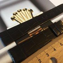 Rolex 100% original glossy dark brown alligator strap 17x14mm, NOS Neu Schweiz, Neuchatel