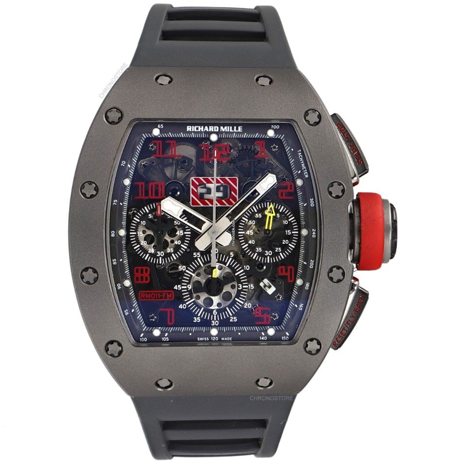 Richard Mille RM 011 Felipe Massa Sand Blast Titanium Watch - Mint B/P