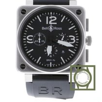 Bell & Ross Aviation Type BR 01 94 Steel BR0194-BL-ST NEW