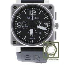 Bell & Ross BR 01-94 Chronographe nouveau 2019 Remontage automatique Chronographe Montre avec coffret d'origine et papiers d'origine BR0194-BL-ST