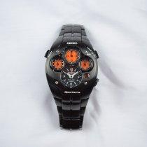 Seiko Titanium Automatisch Zwart 42mm tweedehands Sportura