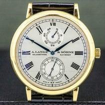A. Lange & Söhne Langematik pre-owned 40.5mm Silver Crocodile skin
