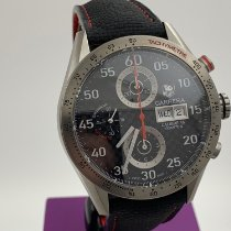TAG Heuer Titanium Automatic Black Arabic numerals 44mm pre-owned Carrera Calibre 16