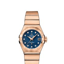 Omega Constellation Ladies Rotgold 27mm Blau