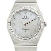 Omega Constellation Quartz Stahl 28mm Weiß