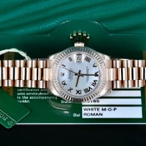 Rolex Rose gold Automatic Mother of pearl 31mm pre-owned Datejust