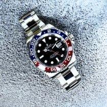 Rolex Or blanc Remontage automatique Noir Sans chiffres 40mm occasion GMT-Master II