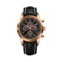 Breitling Transocean Chronograph 1461 Oro rojo 43mm Negro