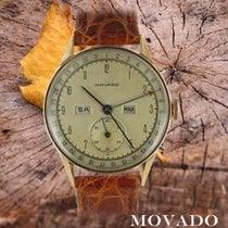 Movado Or rouge Remontage manuel Argent Arabes 32mm occasion