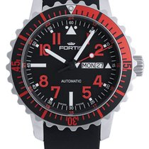Fortis B-42 Marinemaster Day/Date GMT Automatic Steel Red Mens...