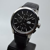 Oris Steel Automatic Black 44mm pre-owned Artix Chronograph
