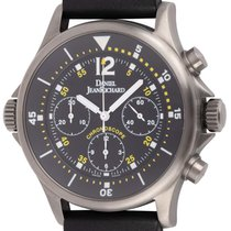 JeanRichard Chronograph 43mm Automatic pre-owned Black