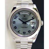 Rolex Day Date II  -  BEST RARE DIAL Glacier Blue Arabic - 218206