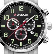 Wenger Acciaio 44mm Quarzo 01.1543.102 nuovo
