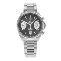 TAG Heuer Steel Automatic Black 43mm pre-owned Grand Carrera