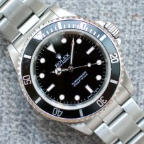 Rolex Steel Automatic Black No numerals 40mm pre-owned Submariner (No Date)