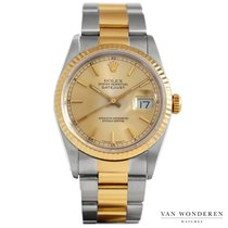 Rolex 16233 Goud/Staal 1995 Datejust 36mm tweedehands Nederland, Purmerend