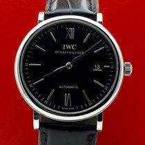 IWC Portofino Automatic Сталь 40mm Чёрный